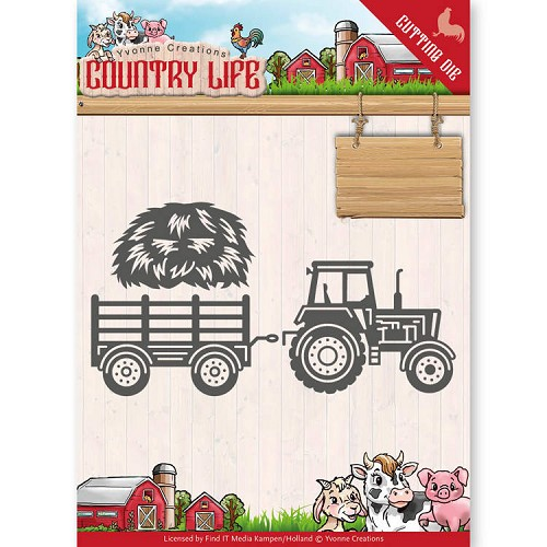 Yvonne Creations - Die - Country Life - Tractor