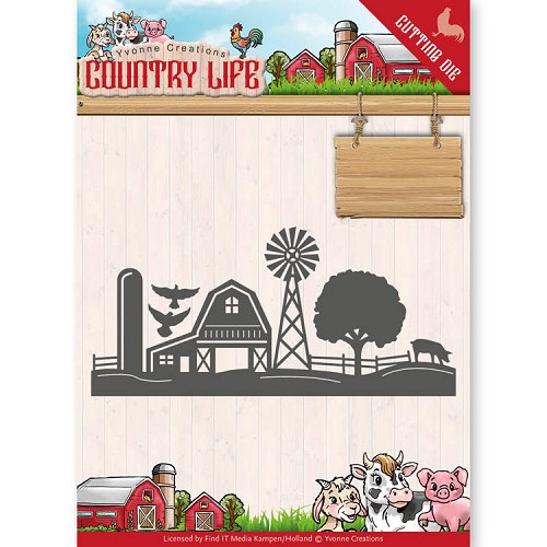 Yvonne Creations - Die - Country Life - Farm Border