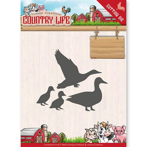 Yvonne Creations - Die - Country Life - Ducks