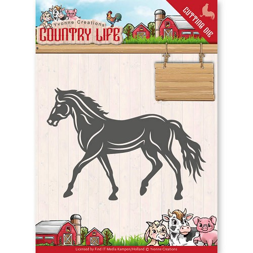 Yvonne Creations - Die - Country Life - Horse