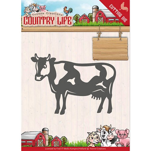 Yvonne Creations - Die - Country Life - Cow