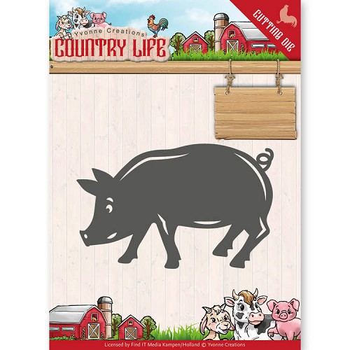Yvonne Creations - Die - Country Life - Pig