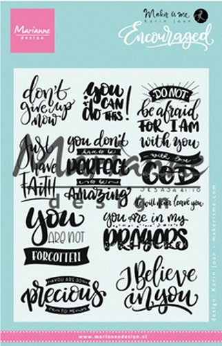 Marianne Design -  ClearStamp - Encouraged