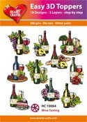 Hearty Crafts - Easy 3D Toppers - Wine Tasting