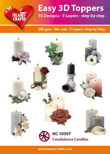 Hearty Crafts - Easy 3D Toppers - Condolences Candles