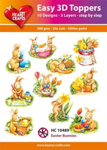 Hearty Crafts - Easy 3D Toppers - Easter Bunnies