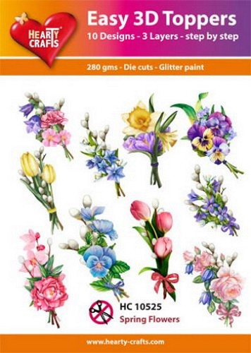 Hearty Crafts - Easy 3D Toppers - Spring Flowers