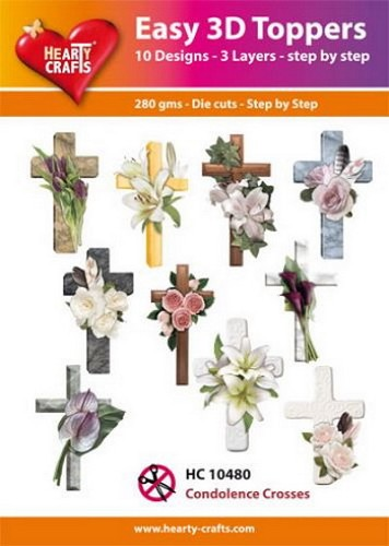 Hearty Crafts - Easy 3D Toppers - Condolence Crosses
