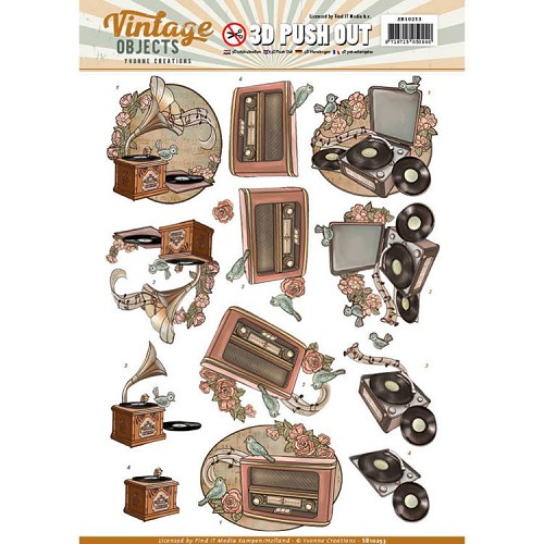 Yvonne Creations  - Push Out - Vintage Objects - Vintage Music