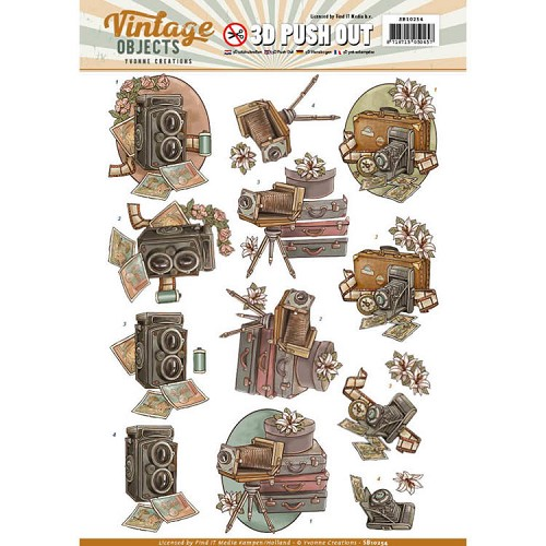 Yvonne Creations - Push Out - Vintage Objects - Vintage Cameras