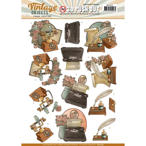 Yvonne Creations - Push Out - Vintage Objects - Vintage Communication