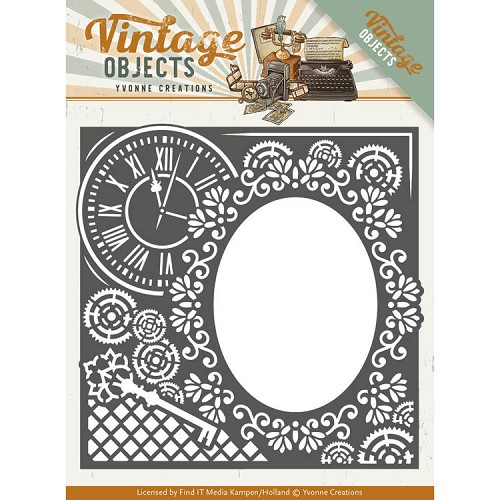 Yvonne Creations - Die - Vintage Objects - Endless Times Frame