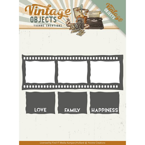 Yvonne Creations - Die - Vintage Objects - Film Strip