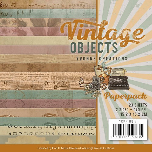 Yvonne Creations - Paperpack - Vintage Objects
