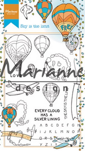 Marianne Design - Clearstamp - Hetty`s Border Sky Is The Limit