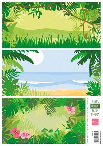 Marianne Design - Knipvel - Eline`s Tropical Backgrounds
