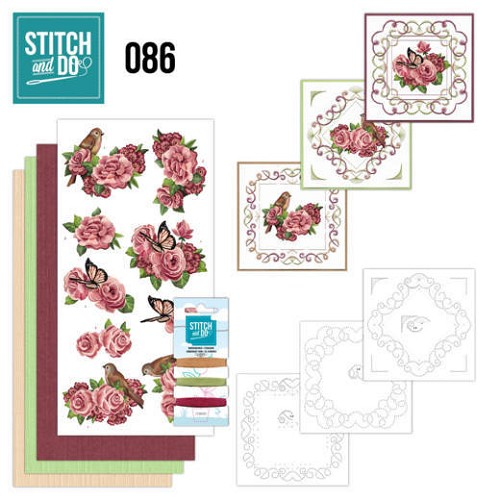 Card Deco - Stitch and Do - Borduurset 86 - Birds and Roses
