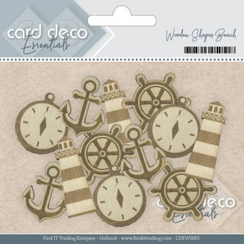 Jeanines Art - Card Deco Essentials - Wooden Shapes Beach