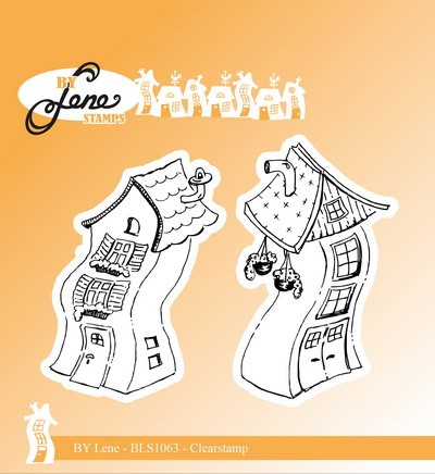 By Lene - Clearstamp - Crooked Houses 1