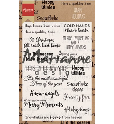Marianne Design -  ClearStamp - Happy Holidays