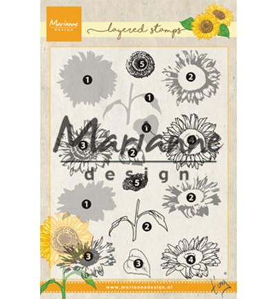 Marianne Design - ClearStamp - Tiny`s Layered Sunflower