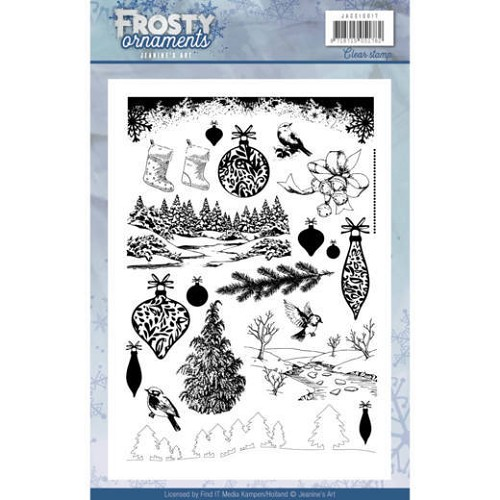 Jeanines Art - Clearstamp - Frosty Ornaments