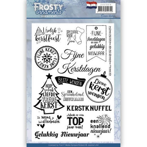 Jeanines Art - Textstamp - Frosty Ornaments - NL