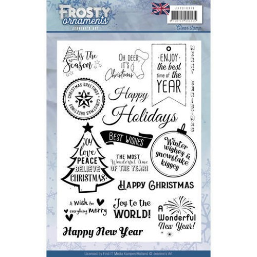 Jeanines Art - Textstamp - Frosty Ornaments - ENG