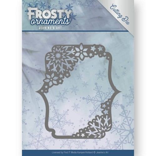 Jeanines Art - Die - Frosty Ornaments - Rectangle Ornament