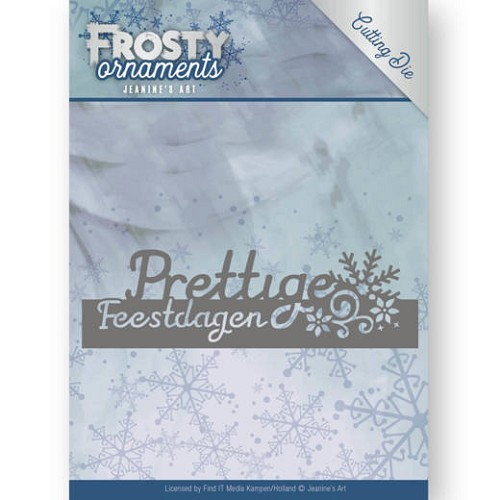 Jeanines Art - Die - Frosty Ornaments - Text Prettige Feestdagen