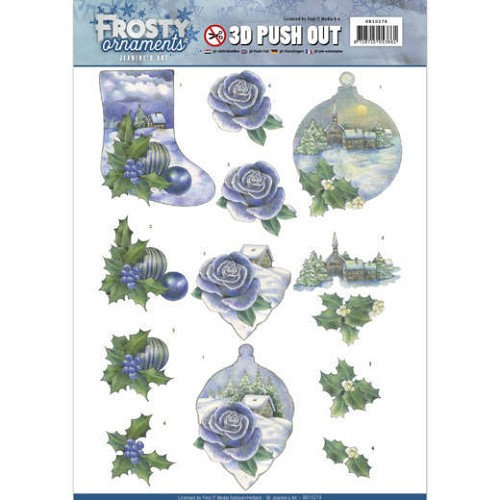 Jeanines Art - 3D Push Out - Frosty Ornaments - Snowy Landscapes