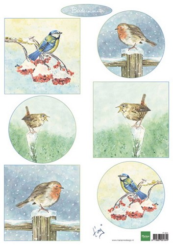 Marianne Design - Knipvel - Tiny`s Birds in Winter