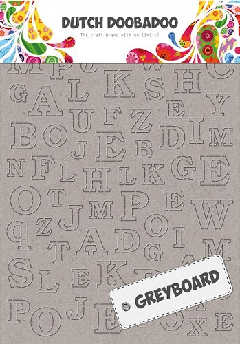 Dutch Doobadoo - Greyboard - Alphabet A4