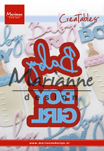 Marianne Design - Die - Creatables - Baby Text Boy & Girl