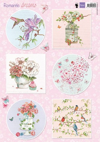 Marianne Design - Knipvel - Romantic Dreams pink