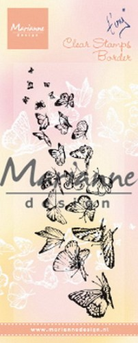 Marianne Design - Clearstamp - Tiny`s Border Butterflies
