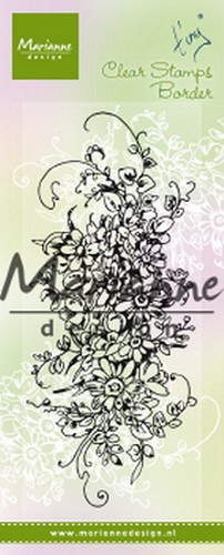 Marianne Design - Clearstamp - Tiny`s Border Bouquet