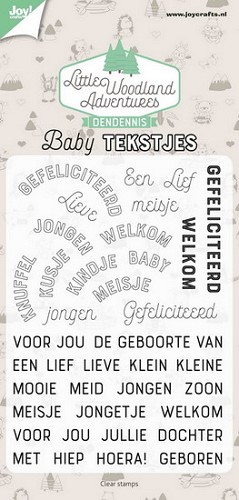 Joy!Crafts - Clearstamp - LWA Baby Tekstjes