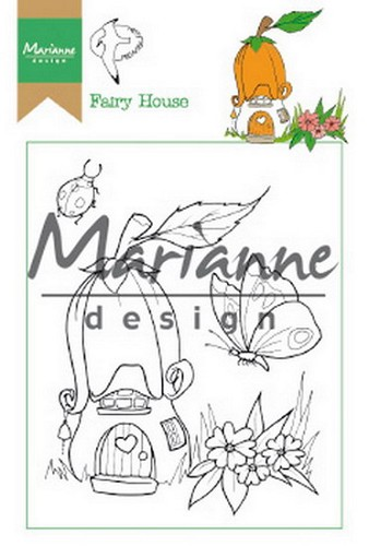 Marianne Design - Clearstamp - Hetty`s Fairy House