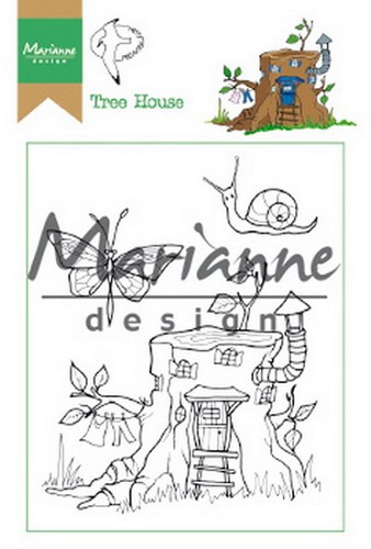 Marianne Design - Clearstamp - Hetty`s Tree House