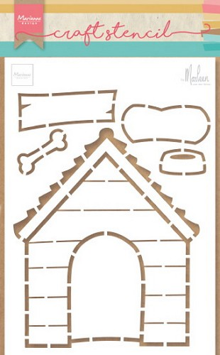 Marianne Design - Craft Stencil - Doghouse