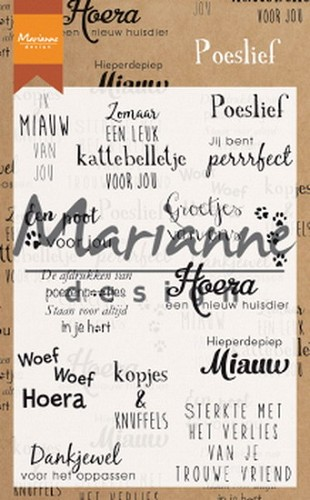 Marianne Design - Clearstamp - Poeslief