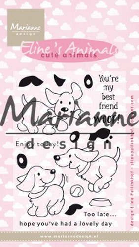Marianne Design - Clearstamp - Eline`s Cute Puppies