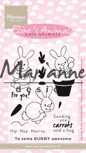 Marianne Design - Clearstamp - Eline`s Cute Bunnies