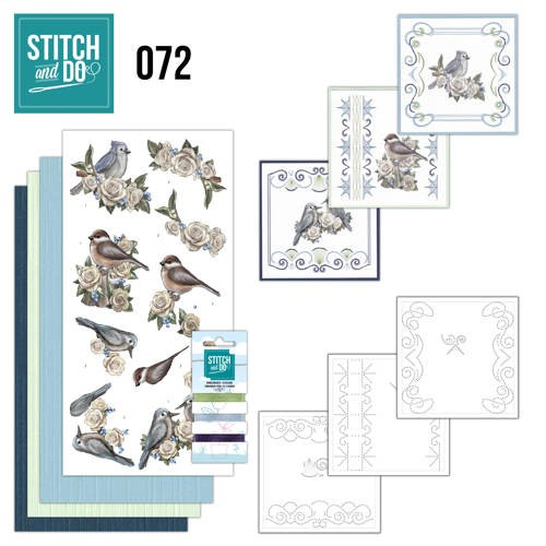 Card Deco - Stitch and Do - Borduurset  72 - Vintage Winter