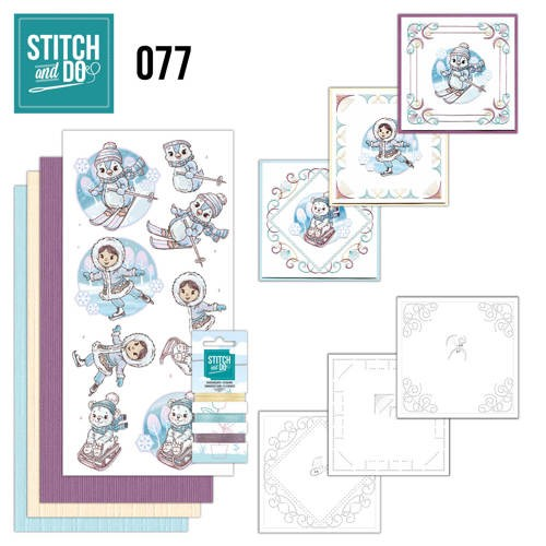 Card Deco - Stitch and Do - Borduurset  77 - Winter Fun