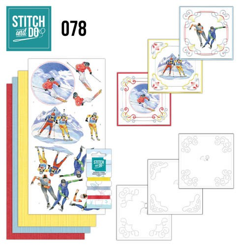 Card Deco - Stitch and Do - Borduurset  78 Wintersports