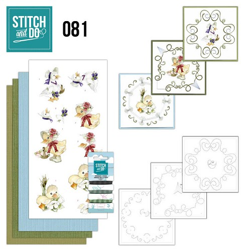 Card Deco - Stitch and Do - Borduurset  81 - Voorjaarsdieren