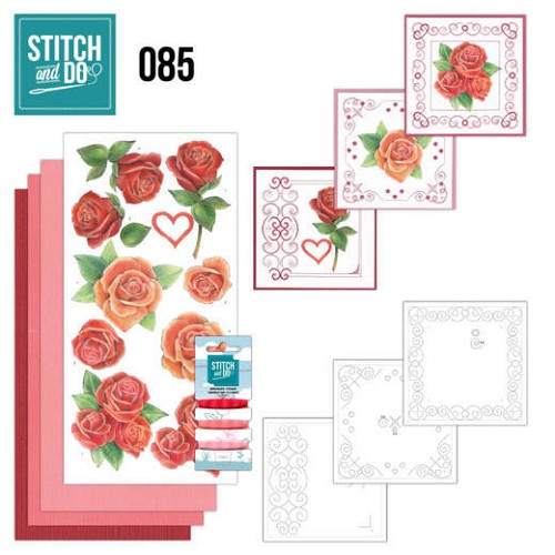 Card Deco - Stitch and Do - Borduurset  85 - Roses