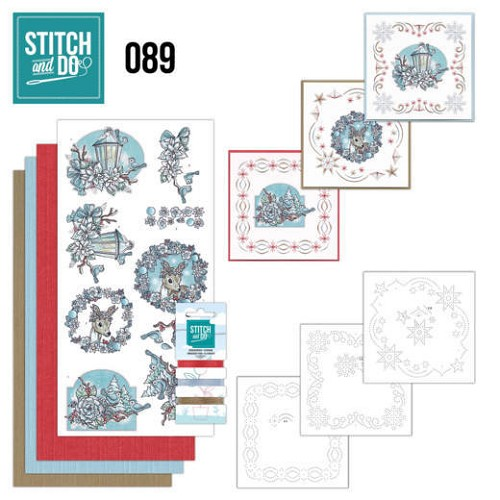 Card Deco - Stitch and Do - Borduurset  89 - Christmas Dreams
